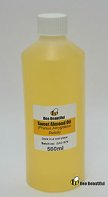 200ml Sweet Almond oil BP- carrier oils, soap bath bomb making