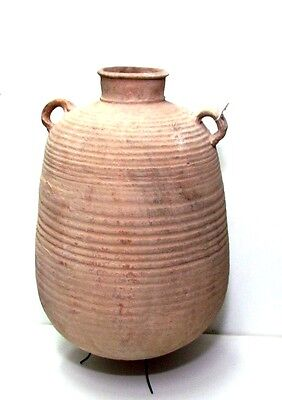 Herodian LARGE TERRA-COTTA STORAGE JAR FOR GRAINS OR LIQUIDS.