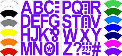 Alphabet Letters Stickers Label Craft Self Adhesive Peel Off Sticky 5CM