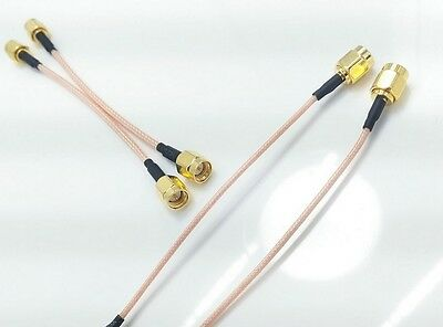 2 X 20mm SMA male to SMA Male  Straight RF Coax extension cable RG316