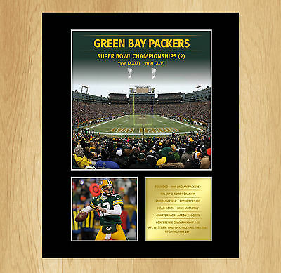 Green Bay Packers Superbowl Mounted Photo Display