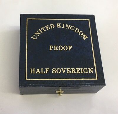 Royal Mint Half Sovereign Proof Box Storage Only