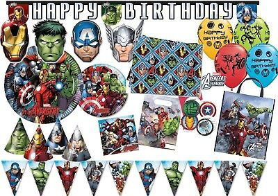 Marvel AVENGERS ASSEMBLE Boys Birthday Party Tableware Decorations Supplies