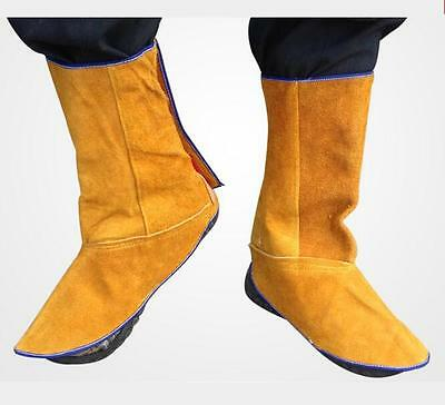 Leather Welding Spats Shoes Flame Resistant Foot position Safety Protection-New