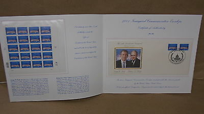 Inauguration Day January 2001 Official Commemorative Souvenir Stamps Bush Cheney
