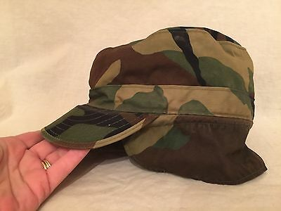 Army Cap Camouflage Pattern Class 1 Size 7 1/4 Pull Down Ear Flaps