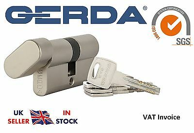 Gerda High Quality Euro Profile Cylinder Door Lock Barrel 5 Keys EVO Thumb Turn