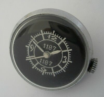 Rare USSR Soviet Air Force aircraft gun camera clock watch ZIM «button» 1187