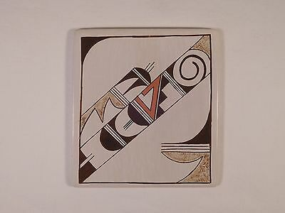 "One-Of-A-Kind  Hopi Indian Pottery ""tile"" By Amber Rain Naha Daughter Of Rainy"