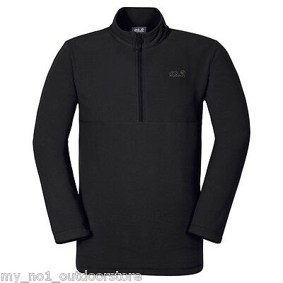 Jack Wolfskin Men's Gecko 1/4 Zip Fleece Top - Black