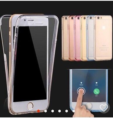 360 Shock Proof Full Protective Front Back Gel Case For IPHONE 7 7plus
