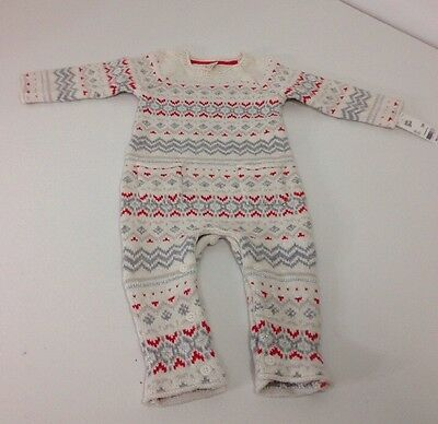 Baby B'gosh Unisex Sweater One Piece  12M. Nwt $40.00.