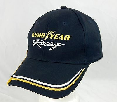 Blue Yellow Trim GOODYEAR RACING Cotton Adjustable Adult One Size