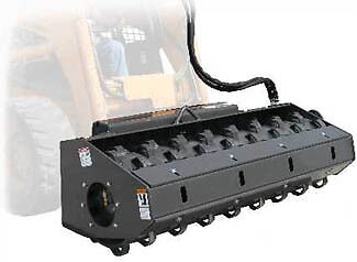 """Bradco Vibratory Roller Attachment for Skid Steer -  84"""" - Padded Drum"""