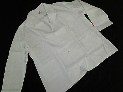 Artex Apparel White Chef Short Jacket Front Buttons 3 Pockets  Sz 3XL # 1110