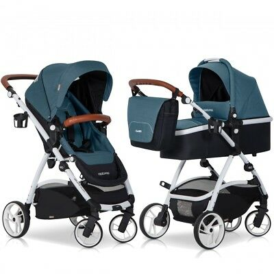 OPTIMO Adriatic 2in1 Kombi Kinderwagen Buggy und Babywanne Komplettset