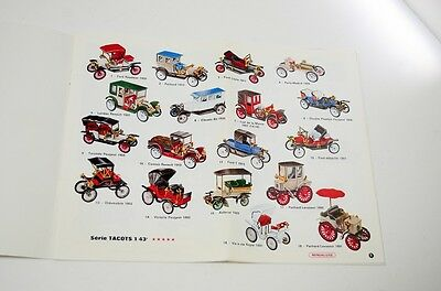 Vintage 1968 Minialuxe Diecast Toy Catalog Vehicle Car Motorcycle Truck