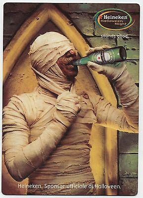 Heineken Beer European Halloween Ad - Large Fridge Magnet  - Mummy