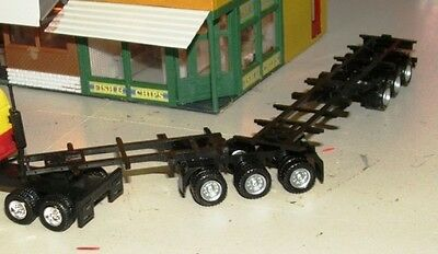Custom made B DOUBLE Container Trailer Combo 23cm long HO 1/87 Scale HERPA