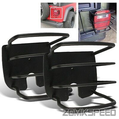 For 1997-2006 Wrangler TJ Heavy Duty Steel Tail Lights Lamps Trim Guard Cover