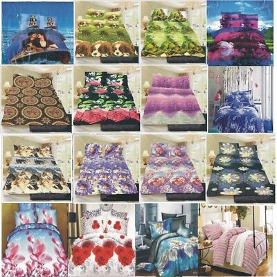 3D  NEW Single/King Single/Double/Queen/King Size Bed Quilt/Doona/Duvet Cover