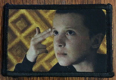 Stranger Things Eleven Morale Patch Tactical Military USA Hook Badge Army Flag
