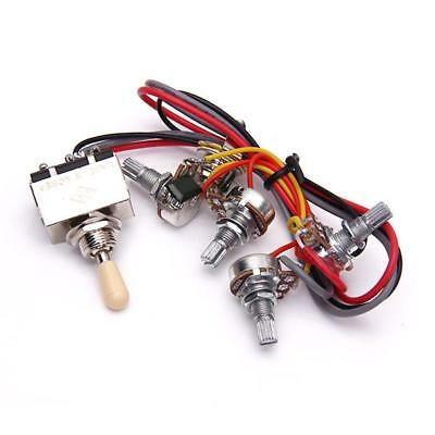 Guitar Wiring harness 3 way Toggle switch 2 volumes/2 tone jack for Les paul