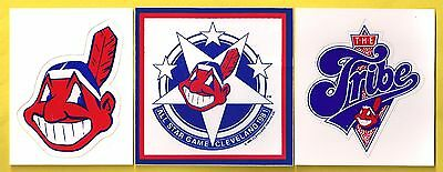 Cleveland Indians MLB Baseball Sticker Lot Including 1981 All-Star Game