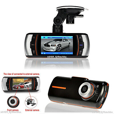 "1080P Dual Lens 2.7"" 5.0MP Autos Dashboard DVR Recorder Separate Rearview Camera"