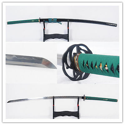 "55"" No-Dachi Japanese Sword 1095 Steel Clay Tempered Iron Tsuba Full Tang Sharp"