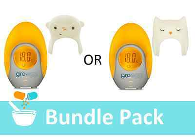 Gro Egg Thermometer & Gro Egg Shell | Indicates Baby Room Temperature‎ Bundle