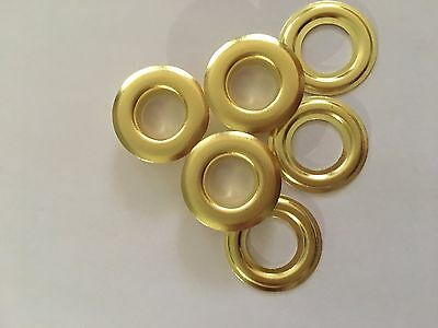 """100 # 4 ( 1/2"""" ) Solid Brass Self Piercing Grommets & Washers 100 Pair"""