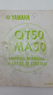 Yamaha QT50/MA50 Factory Owners Service Manual 1st edition, September 1979