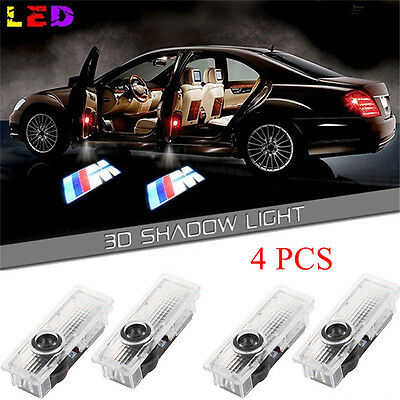 4x M Logo LED Courtesy Laser Projector Ghost Welcome Shadow Door Lights For BMW
