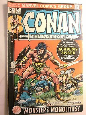 Conan The Barbarian #21 December 1972 (MARVEL) Very Good, 4.0 in Grade