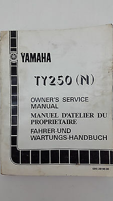 Yamaha Motorbike TY250(N) Factory Owner's Service Manual. 1st ed., October 1984.