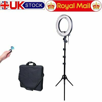 Studio 34cm 400W Ring Light + 185cm Reverse Stand Photo Video Makeup Beauty UK