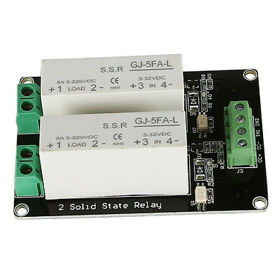 3-32V DC 2 Channel SSR Solid State Relay high-low trigger 5A 5v12v Fr Arduino WS