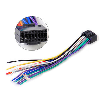 Car Radio Stereo Wire Harness Install Plug Cable 16 Pin Connector fit Kenwood