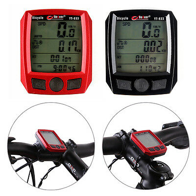 Cycling Bike Bicycle Cycle Wireless LCD Computer Odometer Speedometer Waterproof