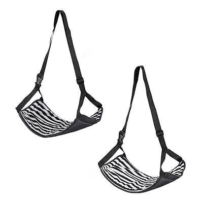 New Portable Stopover hammock Cotton Knitted Footrest Flight Carry-on Rest