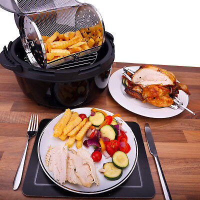 Ovation Low Fat Multifunction Fast Cook Air Fryer Rotisserie Oven Halogen Cooker