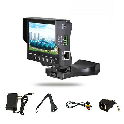 """4.3"""" Screen LCD CCTV Camera Tester Audio Video RJ45 Cable Test Monitor Foldable"""