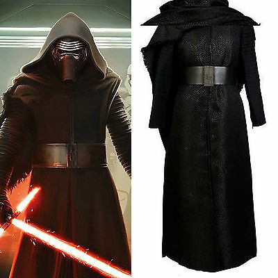 Star Wars VII Cosplay The Force Awakens Lord Kylo Ren Costume Outfit Halloween