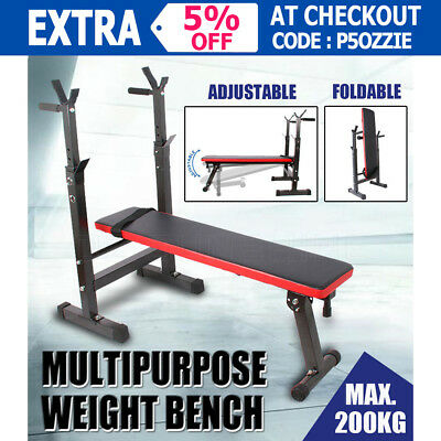 Multifunctional Adjustable Weight Bench Fitness Squat Rack Fitness Home Gym OZ