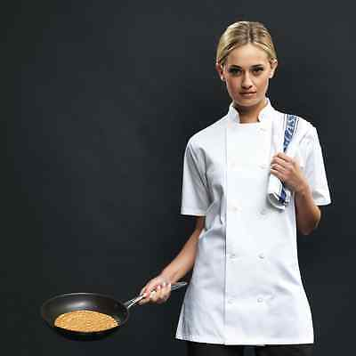 Ladies' Short Sleeved Chefs Jacket  | Mens and Womens Kitchen Uniform