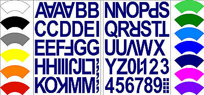 Alphabet Numbers Letters Stickers Label Craft Self Adhesive Peel Off 3.5CM MIXED