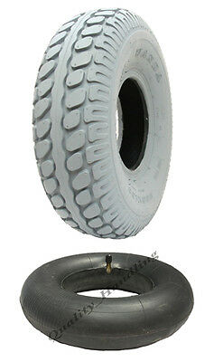 1 new Grey Mobility Scooter tyre and tube 330x100 block pneumatic tire 400-5