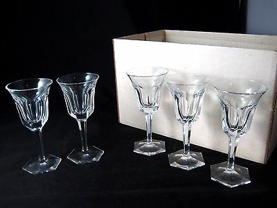 Moser Crystal Stemware Pope Pattern 60 Pc Set of 12 Wine Water Cordial Tumbler