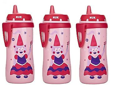 NUK Hard Spout Active Cup in Pink, 10-Ounce 3 Pack